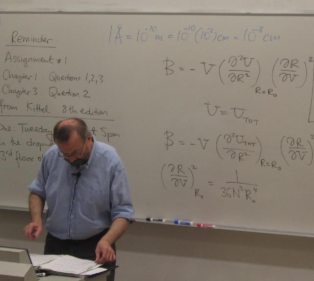 Jan Jung Teaching Solid State Physics... and scientific notation from elementary school