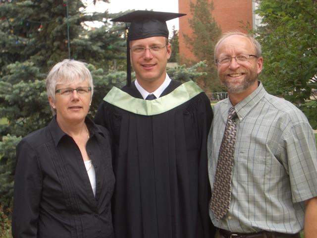 With Mom and Dad in Quad
