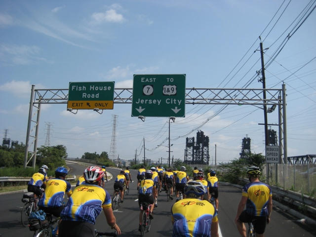 Directions to Jersey City! - final ride with the police escort