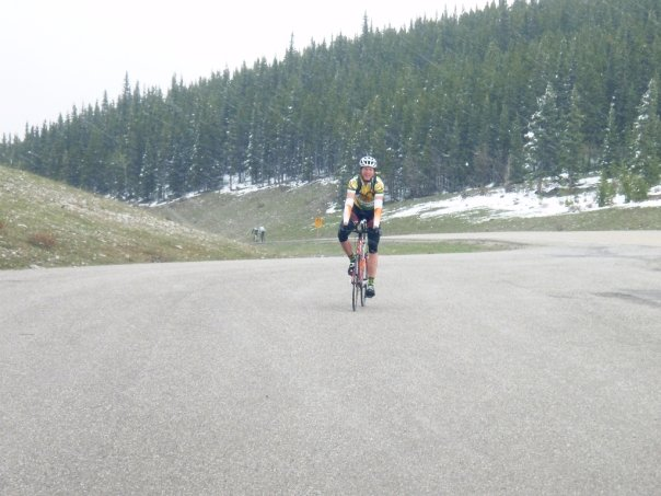 Photo from Lindsay Affeld: Summitting the Elbow Falls climb